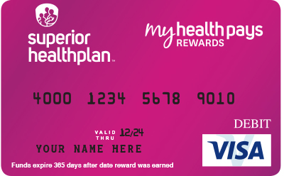 My Health Pays Rewards Card